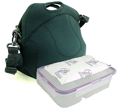 Built Spicy Relish Insulated Lunch Tote Cooler Bag with Leakproof, Easy-Open Bento Box, and Freezer Pack