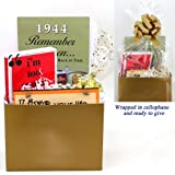 70th Birthday Gift Basket - Live Your Life - with 1944 Trivia Booklet