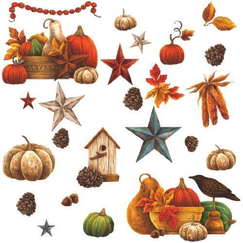 RoomMates PJ2000SCS Bountiful Harvest Peel & Stick Wall Decals - 1