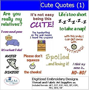 Amazon Machine Embroidery Designs  Cute Quotes1