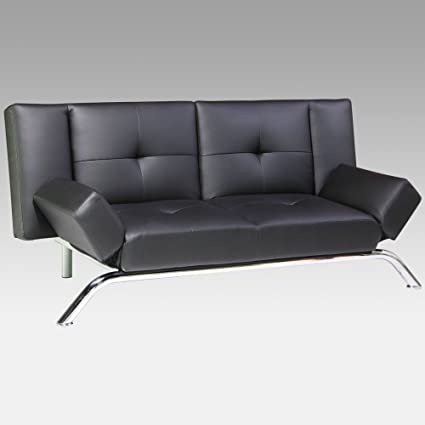 DHP Emma Faux Leather Convertible Sofa