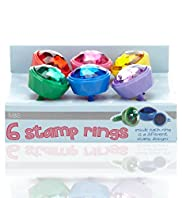 6 Stamp Rings