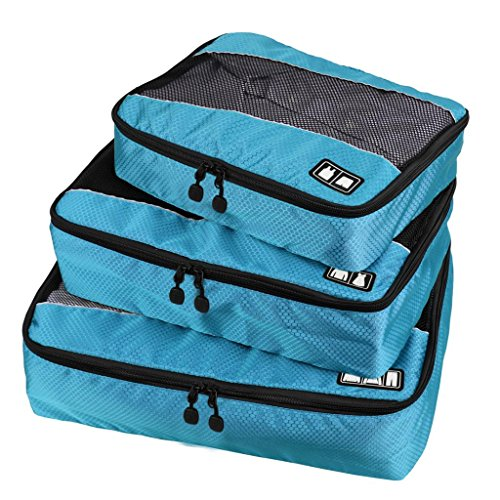 Ecosusi - 3 Set Clothing Packing Cubes - Travel Organizers with Single Compartment