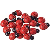 "50 Adorable Wooden LADYBUGS/Self Adhesive/CRAFT/Decorations/1/2"" Home Decor/PLANTS"