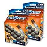 2 Packs of 12 Pedipaws Replacement Filing Heads (Black, pyramind)