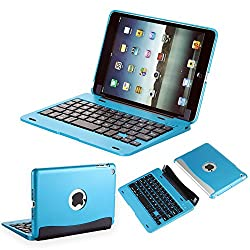 iEGrow Wireless iPad Mini Bluetooth Keyboard with Removable Protective Clamshell Case Cover for Mini 3 /2/1(Blue)