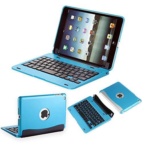 efluky iPad mini Bluetoothキーボードipad mini 1/2/3に対応 可移動的保護 SmartCover (空色)