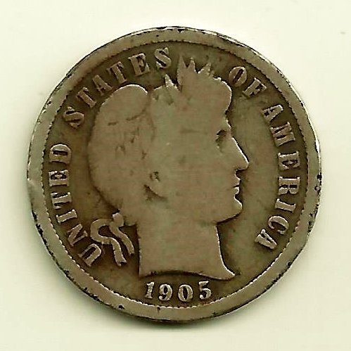 Barber Dime Circulated