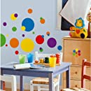 Roommates Rmk1248scs Just Dots Primary Colors Peel Stick Wall Decals