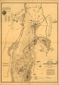 Civil War Map Reprint: Elliott's map of the battlefield of Gettysburg, Pennsylvania Made from an accurate survey of the ground by transit and chain. F. Bourquin & Co., liths., Philada.