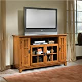 Home Styles Arts Crafts Entertainment Credenza in Cottage Oak