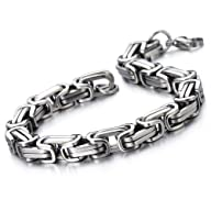 Masculine Style Stainless Steel Braid…
