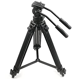ePhoto Video Camera Tripod with Fluid Drag Head and Carrying Case by ePhotoINC B9901