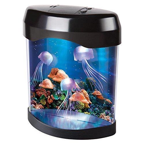 Signstek Creative LED Artificial Jellyfish Aquarium Lighting Fish Tank Night Lamp with 3 Jellyfish