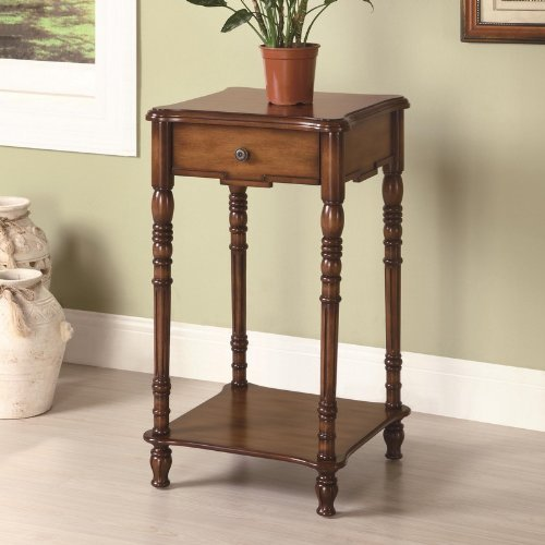 Coaster 900961 Square Plant Stand with warm brown finish.