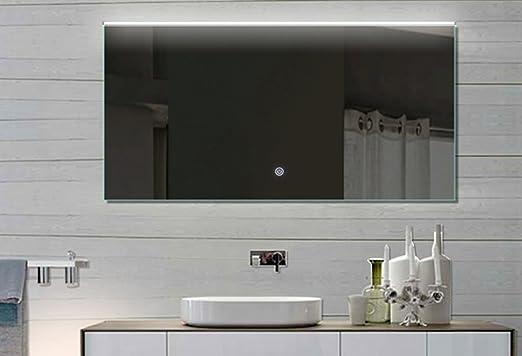 Caldo luce specchio LED TOUCH interruttore tonalità Luce Fredda/calda 132 x 70 cm regolabile