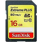 SanDisk Extreme Plus 16 Go Carte mémoire SDHC Classe 10 U3 SDSDXS-016G-X46