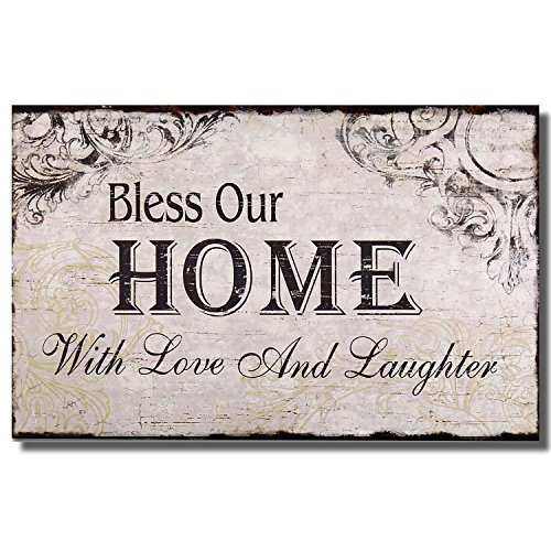 Adeco [SP0105]Decorative Wood Wall Hanging Sign Plaque