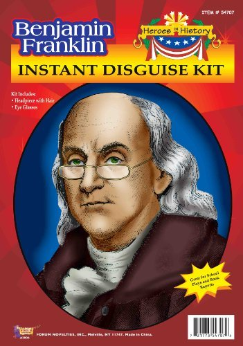 Forum Benjamin Franklin Instant Disguise Kit Color: Multi Size: One Size Model: 54707, Toys & Games for Kids & Child