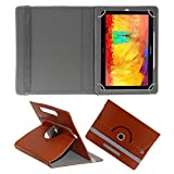 ACM ROTATING 360° LEATHER FLIP CASE FOR SAMSUNG GALAXY NOTE 10.1 P6010 TABLET STAND COVER HOLDER BROWN