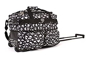 "18"" KS-EX-HP-100 BLACK HEARTS Expandable Cabin Sized Wheeled Holdall"
