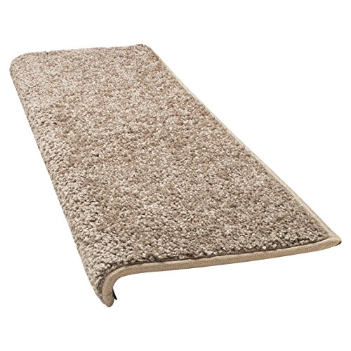 Caprice Bullnose Carpet Stair Tread With Adhesive Padding