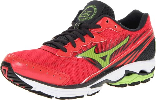 cb395dd96 Mizuno Women s Wave Rider 16 Running Shoe Rouge Red Apple Green Dark Shadow  10 B US
