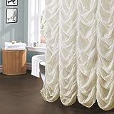 Lush Decor Madelynn Shower Curtain, Ivory
