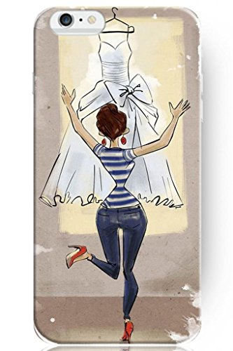 Sprawl Love Melody Design Hard Plastic Case Cover For Iphone 6 Plus (5.5'') -- When She Get Wedding Dress