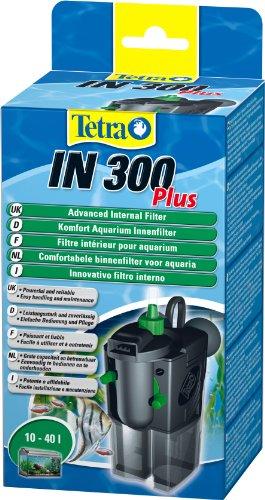 Tetra 174870 IN 300 plus Innenfilter, leistungsstarker Innenfilter zur mechanischen, biologischen und chemischen Filterung, geeignet für 10 - 40 L Aquarien