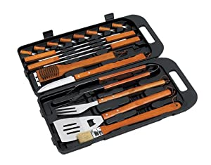 Landmann Barbecue Tool Set with Plastic Case Stainless Steel