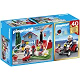 PLAYMOBIL 40th Anniversary Fire Rescue Operation Compact Set and Quad
