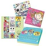 10 x Childrens Kids Girls & Boys Luxury Birthday Cards Pirate Fairy Football