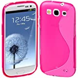 Cimo S-Line Back Case Flexible TPU Cover for Samsung Galaxy S III S3 - Pink