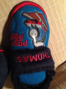 Thomas Tank Engine Plush Slippers Shoes Boy Shoe Size 7 Halloween Winter Gift