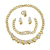vergoldet Halskette Ohrringe Set African Hochzeit Schmuck Sets