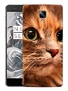 """Cat EyesPrinted Designer Mobile Back Cover For """"OnePlus 3"""" (3D, Matte, Premium Quality Snap On Case)"""