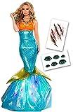 mermaidコスプレハロウィン人魚姫衣装マーメイドマーメードレディースコスチュームクリスマス人魚姫コスプレスパンコールアリエルMサイズ