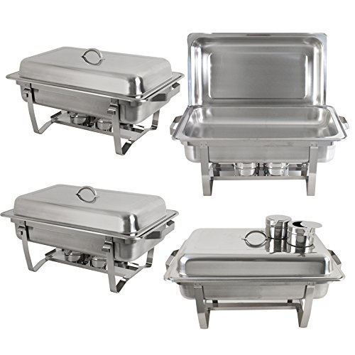 Zeny Chafer Chafering Dish 4 Pack Premier Chafers