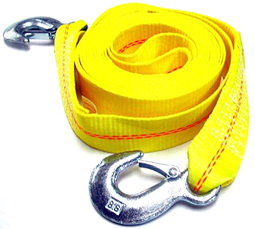 "Best Buy! 2"" X 30' , 4.5 Ton 2 Inch X 30 Ft. Polyester Tow Strap Rope 2 Hooks 9000lb Towing Rec..."