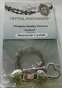 Swarovski Heart & Arrow Peridot Green Bracelet Kit (2)