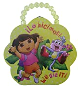 Dora the Explorer Tin Box/Tin Purse Bead Handle Yellow