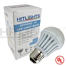  HitLights AffordXII 12W Warm White LED Bulbs, 2 Years Warranty, 855 Lumen, UL Listed