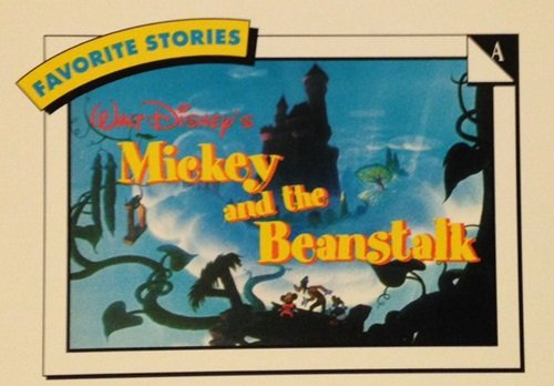 Skybox Disney #A/7 Favorite Stories Mickey And The Beanstalk Trading Card front-667416
