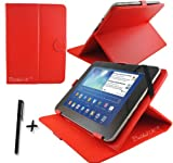 Red PU Leather Case Cover Stand for ARCHOS ARNOVA 10D G3 10DG3 10.1'' 10.1 Inch Android Tablet Pc + Stylus Pen