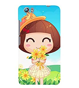 TOUCHNER (TN) Lovely Girl Back Case Cover for MICROMAX FIRE4