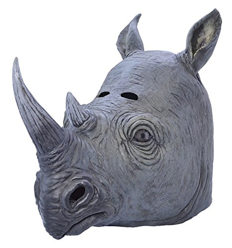 Rhino Zoo Safari Animal Fancy Dress Accessory Mask
