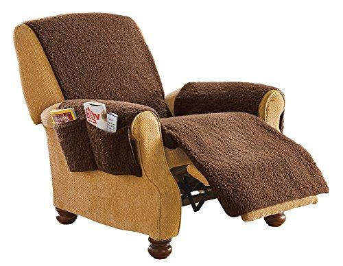Fleece Recliner Protector / Cover, Brown
