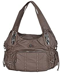 Gouri Bags Stylish Trendy Soft Leather Handbag Shoulder Leather Bag Women Ladies Girl Purse Office Bag Gift Brown
