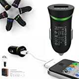 First2savvv green LDNIO DL-C12 USB car charger travel charger power supply for CnM 7S 7 Inch Touchpad Tablet - 8GB